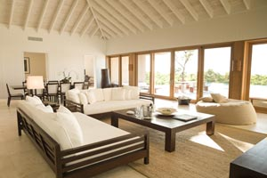 WIMCO Villas, Parrot Cay Resort & Spa, Turks & Caicos Island, Living Room, Book now with WIMCO Villas