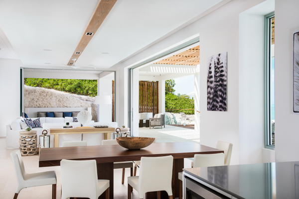 Dining Room at WIMCO Villa TC BEB4 (Beach Enclave North Shore 4BR Beachfront) at Babalua Beach, Turks & Caicos