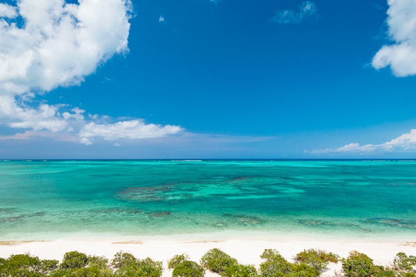 The view from Villa TC BEB4 (Beach Enclave 4BR Beachfront) at Turks & Caicos, Babalua Beach, Family-Friendly Villa, Pool, 4 Bedrooms, 4 Bathrooms, WiFi, WIMCO Villas