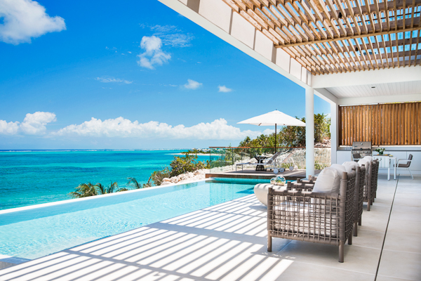 The view from WIMCO Villa TC BEB4 (Beach Enclave North Shore 4BR Beachfront) at Babalua Beach, Turks & Caicos