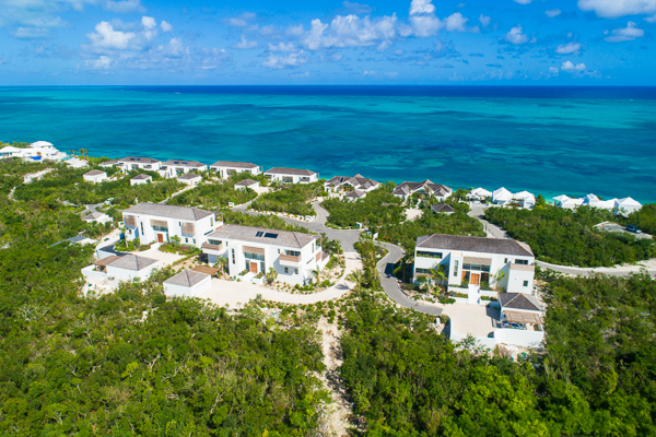 Aerial photo of WIMCO Villa TC BEO5 (Beach Enclave North Shore 5BR Ocean View) at Babalua Beach, Turks & Caicos