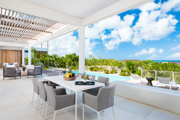 Dining Room at WIMCO Villa TC BEO5 (Beach Enclave North Shore 5BR Ocean View) at Babalua Beach, Turks & Caicos