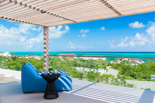 Terrace at WIMCO Villa TC BEO5 (Beach Enclave North Shore 5BR Ocean View) at Babalua Beach, Turks & Caicos