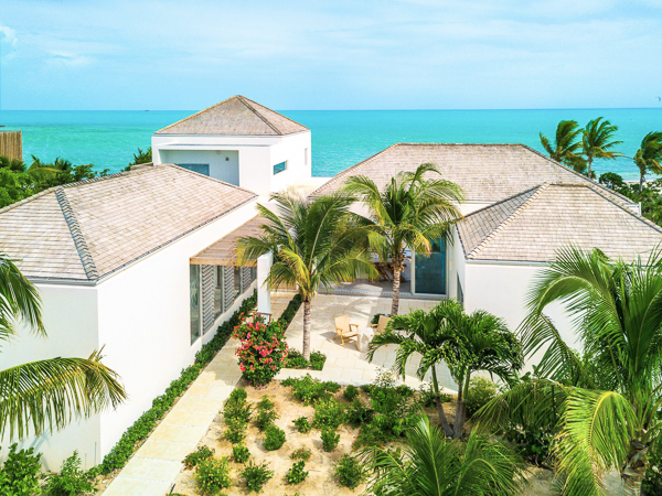 The view from WIMCO Villa TC BLM (Beach Enclave Long Bay 4BBF + Media Room) at Long Bay Beach, Turks & Caicos