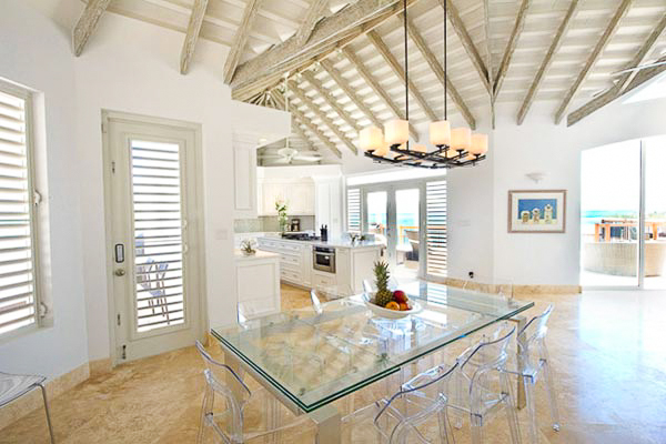 Dining Room at Villa TC MOT (Mothers House) at Turks & Caicos, Grace Bay/Beachside, Family-Friendly Villa, Pool, 5 Bedrooms, 7 Bathrooms, WiFi, WIMCO Villas