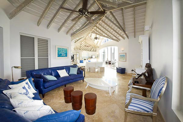 Sitting Room at Villa TC MOT (Mothers House) at Turks & Caicos, Grace Bay/Beachside, Family-Friendly Villa, Pool, 5 Bedrooms, 7 Bathrooms, WiFi, WIMCO Villas