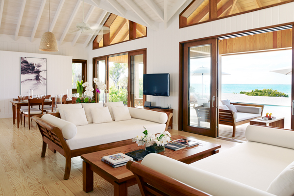 Living Room at Villa TC PCBH (Beach House at Parrot Cay) at Turks & Caicos, Parrot Cay, Family-Friendly Villa, Pool, 2 Bedrooms, 2 Bathrooms, WiFi, WIMCO Villas