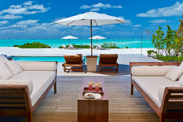 Terrace at Villa TC PCBH (Beach House at Parrot Cay) at Turks & Caicos, Parrot Cay, Family-Friendly Villa, Pool, 2 Bedrooms, 2 Bathrooms, WiFi, WIMCO Villas