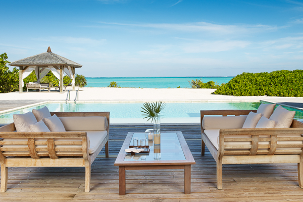 Deck at Villa TC PCCO (Como Villa at Parrot Cay) at Turks & Caicos, Parrot Cay, Family-Friendly Villa, Pool, 3 Bedrooms, 3 Bathrooms, WiFi, WIMCO Villas