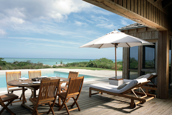 Terrace at Villa TC PCCO (Como Villa at Parrot Cay) at Turks & Caicos, Parrot Cay, Family-Friendly Villa, Pool, 3 Bedrooms, 3 Bathrooms, WiFi, WIMCO Villas