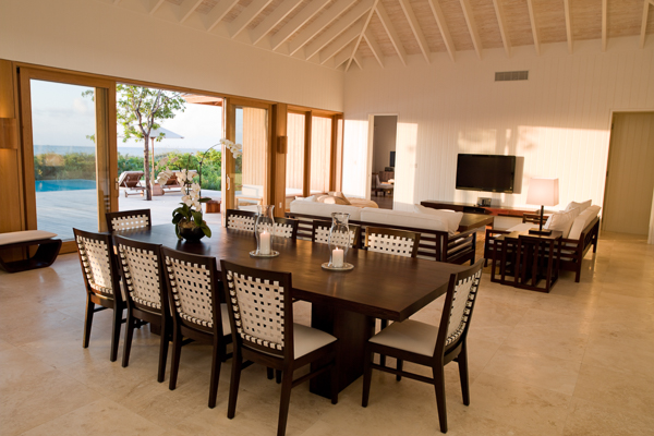 Dining Room at Villa TC PCIS (Island House at Parrot Cay) at Turks & Caicos, Parrot Cay, Family-Friendly Villa, Pool, 3 Bedrooms, 3 Bathrooms, WiFi, WIMCO Villas
