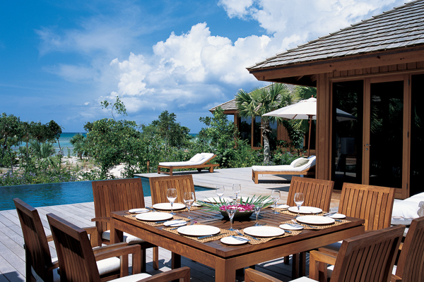 Dining Room at Villa TC PCLU (Lucky House at Parrot Cay) at Turks & Caicos, Parrot Cay, Family-Friendly Villa, Pool, 3 Bedrooms, 3 Bathrooms, WiFi, WIMCO Villas