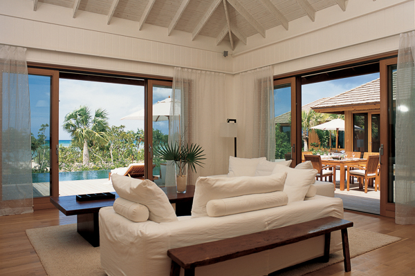 Living Room at Villa TC PCLU (Lucky House at Parrot Cay) at Turks & Caicos, Parrot Cay, Family-Friendly Villa, Pool, 3 Bedrooms, 3 Bathrooms, WiFi, WIMCO Villas