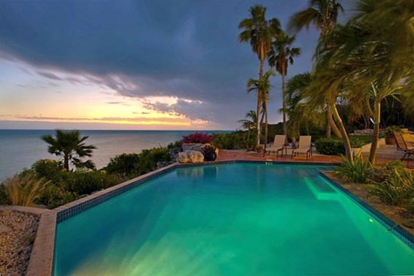 The view from Villa TC THR (Three Cays) at Turks & Caicos, Turtle Tail, Family-Friendly Villa, Pool, 4 Bedrooms, 3 Bathrooms, WiFi, WIMCO Villas