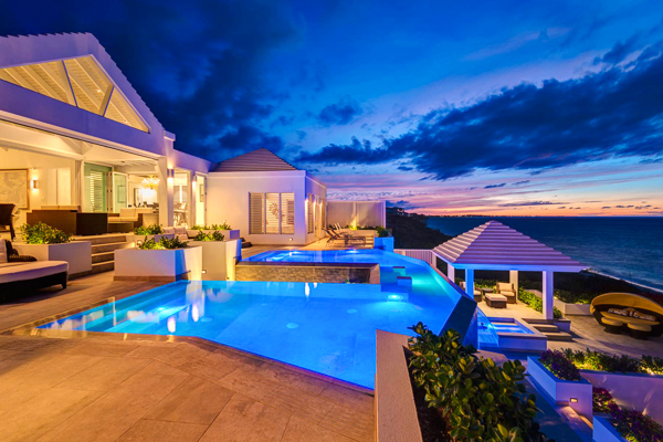Exterior of Villa TNC CSC (Cascade) at Turks & Caicos, Babalua Beach, Family-Friendly Villa, Pool, 6 Bedrooms, 6 Bathrooms, WiFi, WIMCO Villas