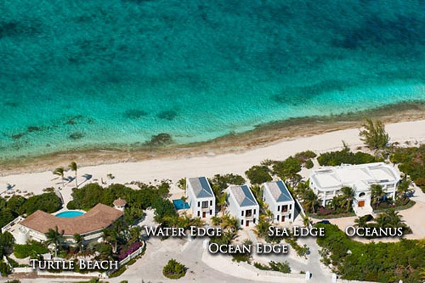 Aerial photo of Villa TNC WED (Water Edge - The Cottages at Grace Bay) at Turks & Caicos, Grace Bay/Beachside, Pool, 1 Bedrooms, 2 Bathrooms, WiFi, WIMCO Villas