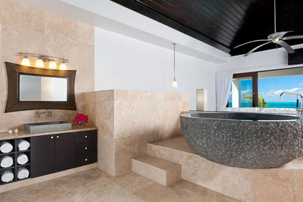 Bathroom at Villa TNC WED (Water Edge - The Cottages at Grace Bay) at Turks & Caicos, Grace Bay/Beachside, Pool, 1 Bedrooms, 2 Bathrooms, WiFi, WIMCO Villas