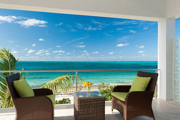 Terrace at Villa TNC WED (Water Edge - The Cottages at Grace Bay) at Turks & Caicos, Grace Bay/Beachside, Pool, 1 Bedrooms, 2 Bathrooms, WiFi, WIMCO Villas