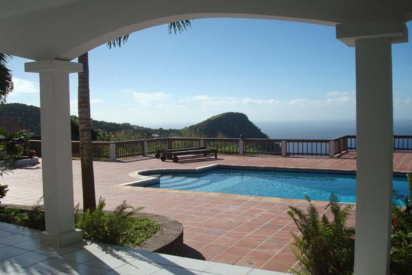 Villa Pool at Villa WMB CAR (Carolina Cottage) at Saba, Troy Hill, Pool, 2 Bedrooms, 2 Bathrooms, WiFi, WIMCO Villas
