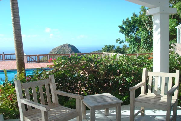 Sitting Room at Villa WMB CAR (Carolina Cottage) at Saba, Troy Hill, Pool, 2 Bedrooms, 2 Bathrooms, WiFi, WIMCO Villas