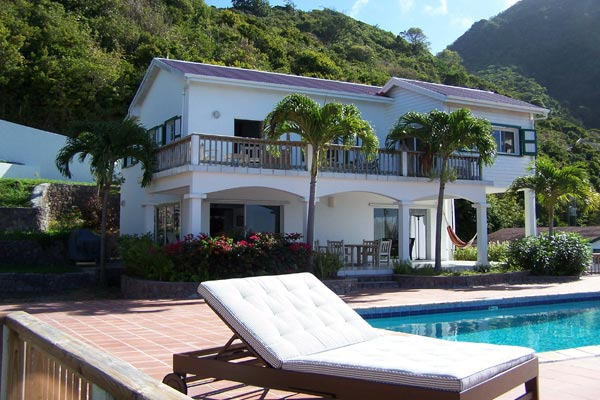 Terrace at Villa WMB CAR (Carolina Cottage) at Saba, Troy Hill, Pool, 2 Bedrooms, 2 Bathrooms, WiFi, WIMCO Villas