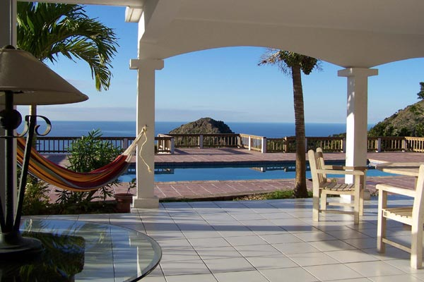 The view from Villa WMB CAR (Carolina Cottage) at Saba, Troy Hill, Pool, 2 Bedrooms, 2 Bathrooms, WiFi, WIMCO Villas