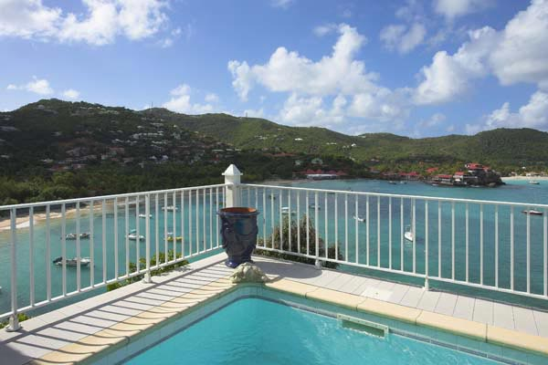 The view from Villa HEN GRE (La Vigie) at St. Barthelemy, St. Jean, Pool, 4 Bedrooms, 4 Bathrooms, WiFi, WIMCO Villas