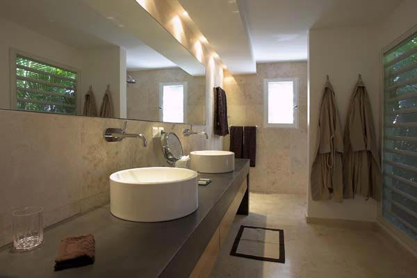 Bathroom at Villa HEN RFP (Reef Point) at St. Barthelemy, St. Jean, Pool, 3 Bedrooms, 3 Bathrooms, WiFi, WIMCO Villas