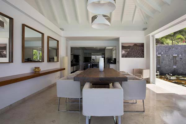 Dining Room at Villa HEN RFP (Reef Point) at St. Barthelemy, St. Jean, Pool, 3 Bedrooms, 3 Bathrooms, WiFi, WIMCO Villas