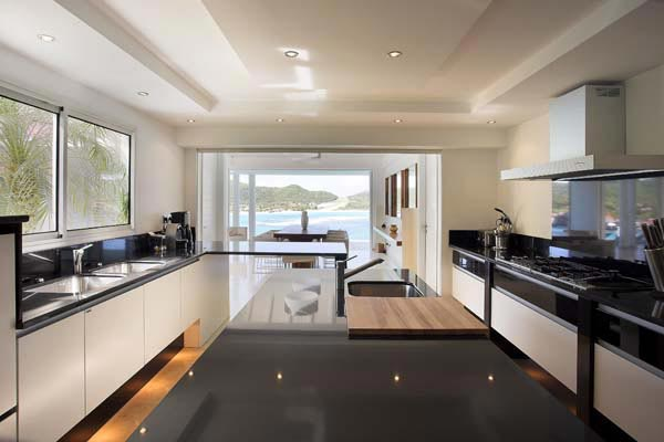Kitchen at Villa HEN RFP (Reef Point) at St. Barthelemy, St. Jean, Pool, 3 Bedrooms, 3 Bathrooms, WiFi, WIMCO Villas