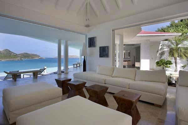 Living Room at Villa HEN RFP (Reef Point) at St. Barthelemy, St. Jean, Pool, 3 Bedrooms, 3 Bathrooms, WiFi, WIMCO Villas