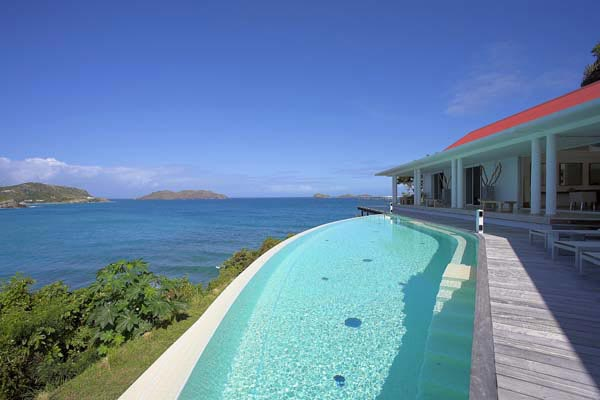 Villa Pool at Villa HEN RFP (Reef Point) at St. Barthelemy, St. Jean, Pool, 3 Bedrooms, 3 Bathrooms, WiFi, WIMCO Villas