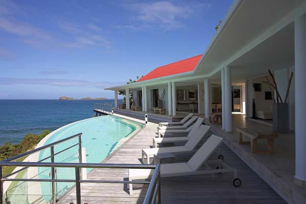 Terrace at Villa HEN RFP (Reef Point) at St. Barthelemy, St. Jean, Pool, 3 Bedrooms, 3 Bathrooms, WiFi, WIMCO Villas