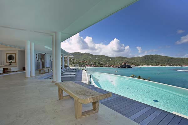 Veranda at Villa HEN RFP (Reef Point) at St. Barthelemy, St. Jean, Pool, 3 Bedrooms, 3 Bathrooms, WiFi, WIMCO Villas