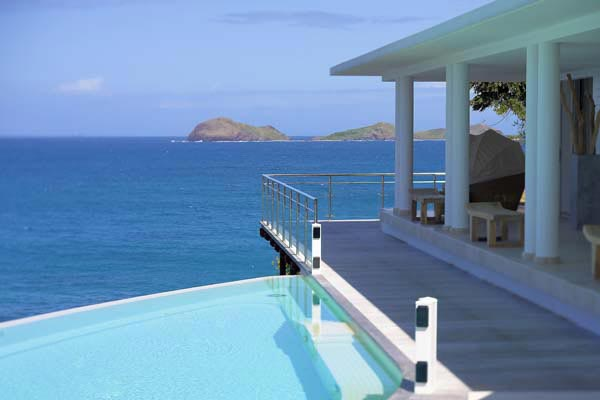 The view from Villa HEN RFP (Reef Point) at St. Barthelemy, St. Jean, Pool, 3 Bedrooms, 3 Bathrooms, WiFi, WIMCO Villas