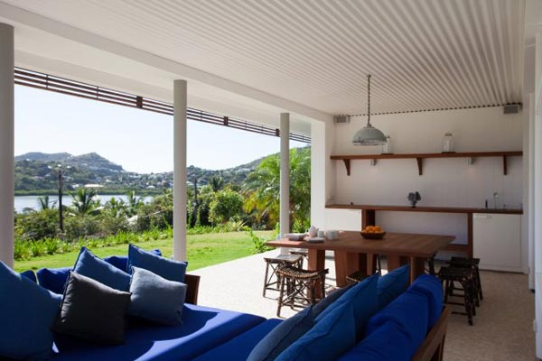 Veranda at Villa SRV 3BD (Three Bedroom Villa) at St. Barthelemy, Grand Cul de Sac, Family-Friendly Villa, Pool, 3 Bedrooms, 3 Bathrooms, WiFi, WIMCO Villas