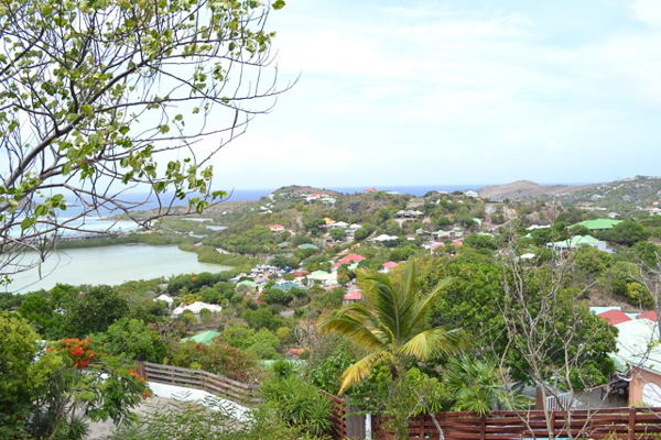 The view from Villa WR WAN (Land For Sale) at St. Barthelemy, Grand Cul de Sac, 0 Bedrooms, 0 Bathrooms, WiFi, WIMCO Villas