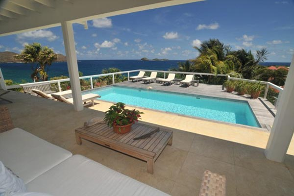 Terrace at Villa WV ABT (Jali) at St. Barthelemy, Anse des Cayes, Family-Friendly Villa, Pool, 3 Bedrooms, 3 Bathrooms, WiFi, WIMCO Villas