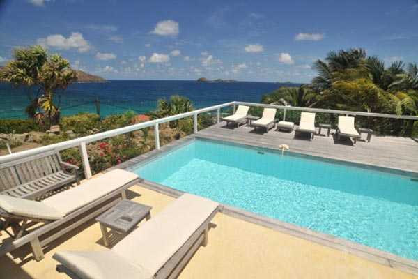 The view from Villa WV ABT (Jali) at St. Barthelemy, Anse des Cayes, Family-Friendly Villa, Pool, 3 Bedrooms, 3 Bathrooms, WiFi, WIMCO Villas