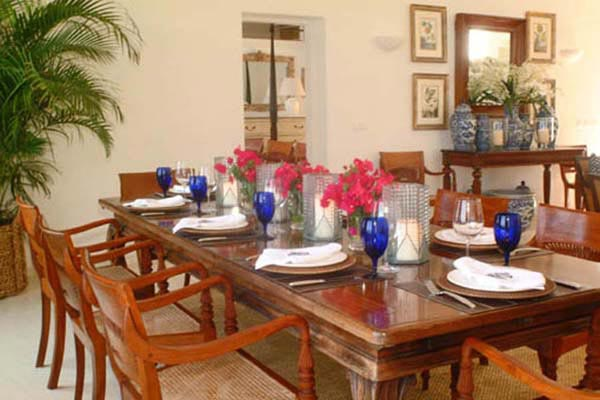 Dining Room at Villa WV AJF at St. Barthelemy, Pointe Milou, Family-Friendly Villa, Pool, 3 Bedrooms, 3 Bathrooms, WiFi, WIMCO Villas