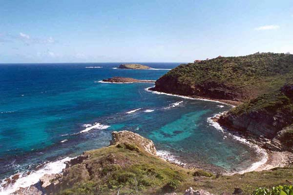 The view from Villa WV AJF at St. Barthelemy, Pointe Milou, Family-Friendly Villa, Pool, 3 Bedrooms, 3 Bathrooms, WiFi, WIMCO Villas