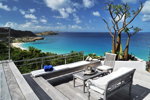 Deck at Villa WV AOO (Roc Flamands #8) at St. Barthelemy, Flamands, Family-Friendly Villa, Pool, 4 Bedrooms, 4 Bathrooms, WiFi, WIMCO Villas