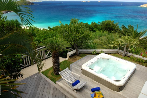 Jacuzzi at Villa WV AOO (Roc Flamands #8) at St. Barthelemy, Flamands, Family-Friendly Villa, Pool, 4 Bedrooms, 4 Bathrooms, WiFi, WIMCO Villas
