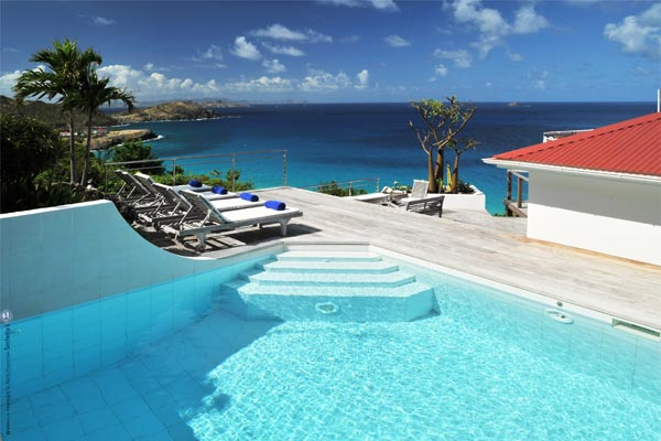 Villa Pool at Villa WV AOO (Roc Flamands #8) at St. Barthelemy, Flamands, Family-Friendly Villa, Pool, 4 Bedrooms, 4 Bathrooms, WiFi, WIMCO Villas