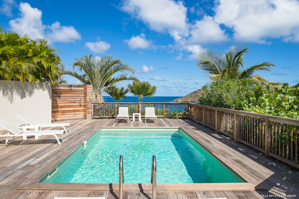 Villa Pool at Villa WV ART (The Art House) at St. Barthelemy, Flamands, Family-Friendly Villa, Pool, 3 Bedrooms, 2 Bathrooms, WiFi, WIMCO Villas