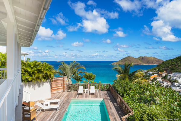 The view from Villa WV ART (The Art House) at St. Barthelemy, Flamands, Family-Friendly Villa, Pool, 3 Bedrooms, 2 Bathrooms, WiFi, WIMCO Villas