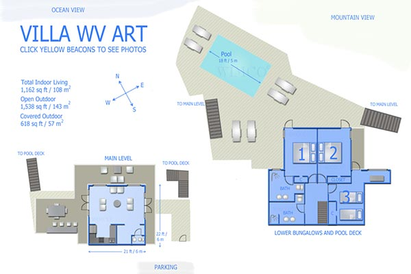 Villa WV ART (The Art House) at St. Barthelemy, Flamands, Family-Friendly Villa, Pool, 3 Bedrooms, 2 Bathrooms, WiFi, WIMCO Villas