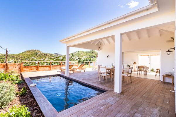 Villa Pool at Villa WV ASE (Anse Etoilee) at St. Jean, St. Barthelemy, Family-Friendly, Pool, 1 Bedroom, 1 Bathroom, WiFi, WIMCO Villas