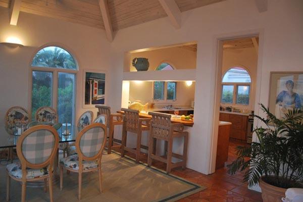 Dining Room at Villa WV BEV (Beverly) at St. Barthelemy, Mont Jean, Family-Friendly Villa, Pool, 4 Bedrooms, 4 Bathrooms, WiFi, WIMCO Villas