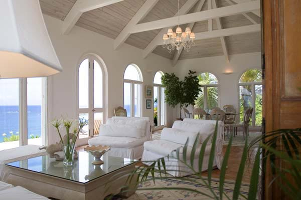 Living Room at Villa WV BEV (Beverly) at St. Barthelemy, Mont Jean, Family-Friendly Villa, Pool, 4 Bedrooms, 4 Bathrooms, WiFi, WIMCO Villas